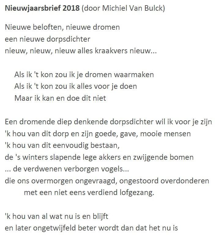 Gedichten Dorpsdichter Michiel Van Bulck Gemeente Kampenhout